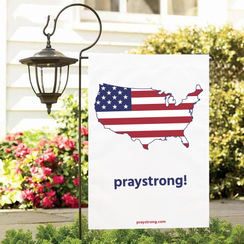PrayStrong USA Garden Flag