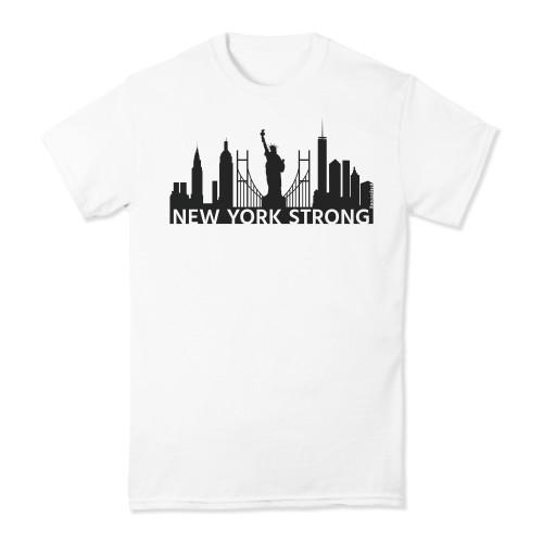 praystrong, pray, strong, watercolor, rainbow, short, sleeve, shirt, t-shirt, new york, new york city, black, grey
