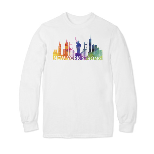 praystrong, pray, strong, watercolor, rainbow, short, sleeve, shirt, t-shirt, new york city, nyc