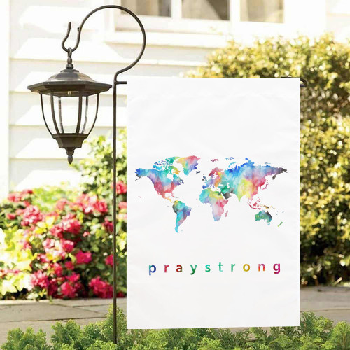 trendy garden flag, Message of hope and encouragement for the world