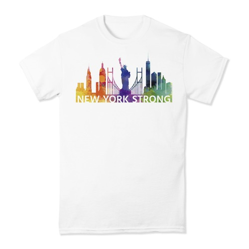 PrayStrong New York Strong Watercolor Short Sleeve T-shirt