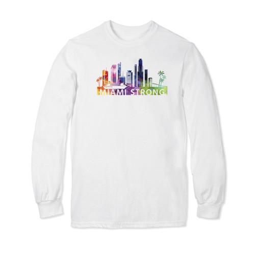 PrayStrong Miami Strong Watercolor Long Sleeve T-shirt