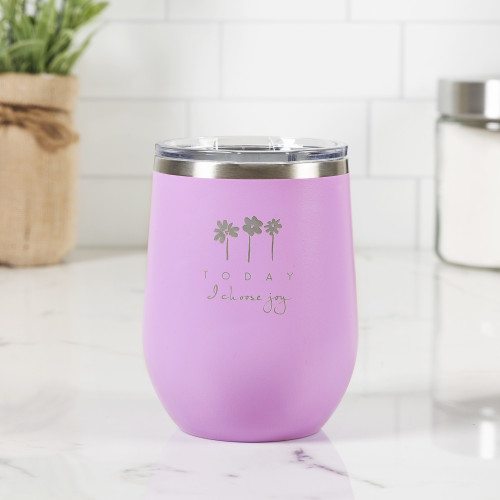 Personalized Today I Choose Joy Wine Tumbler
