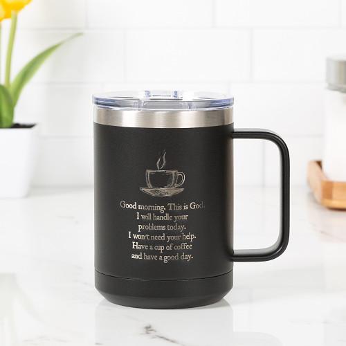 Personalized Good Morning From God Travel Mug