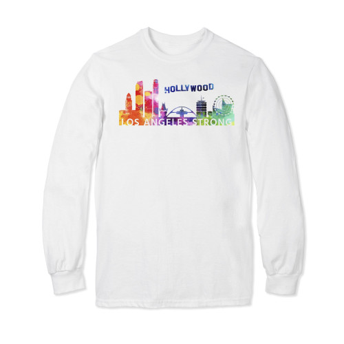 Los Angeles Strong Watercolor Long Sleeve T-shirt