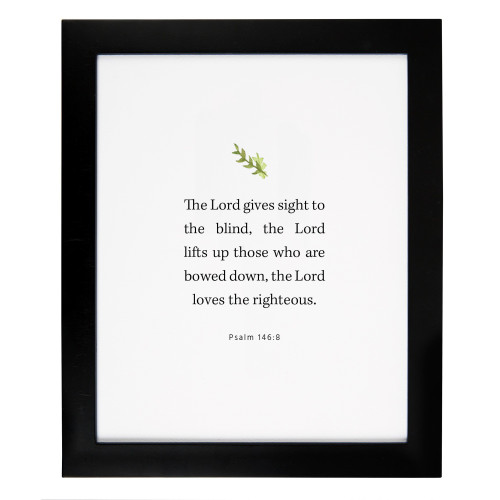 Psalm 146:8 Framed Scripture Print