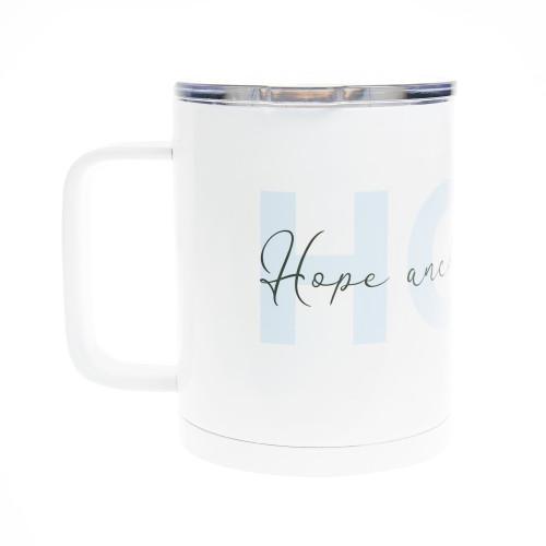 PrayStrong Hope White Travel Mug