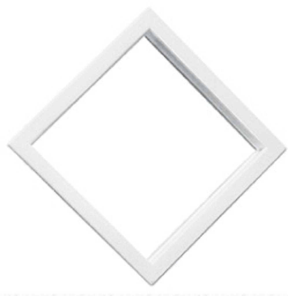 """10"""" x 10"""" White Diamond Exterior Door Window"""
