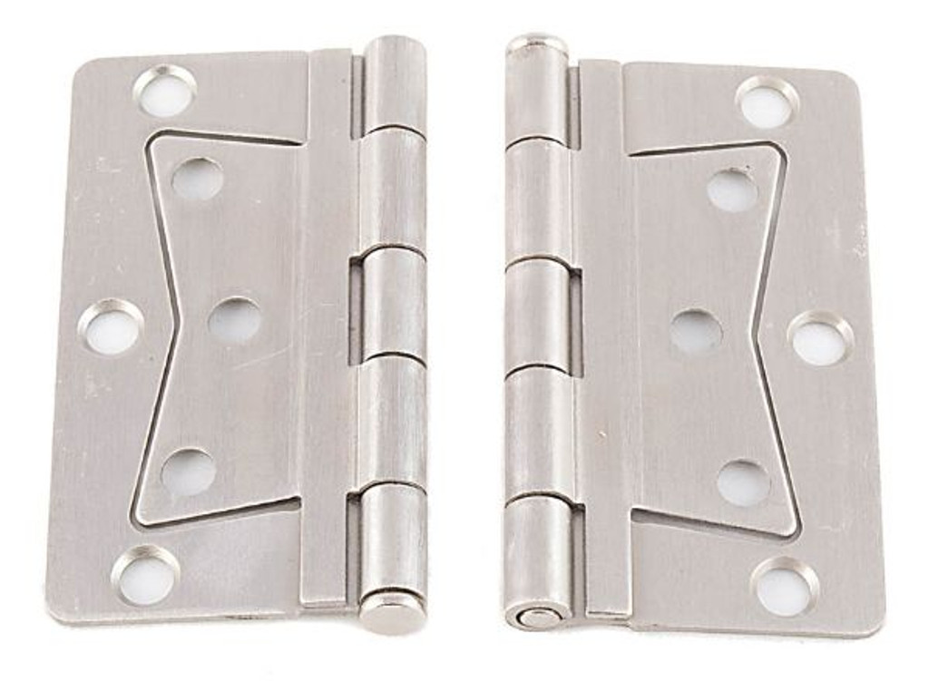 Interior Butterfly Stainless Steel Hinge Set with Screws.