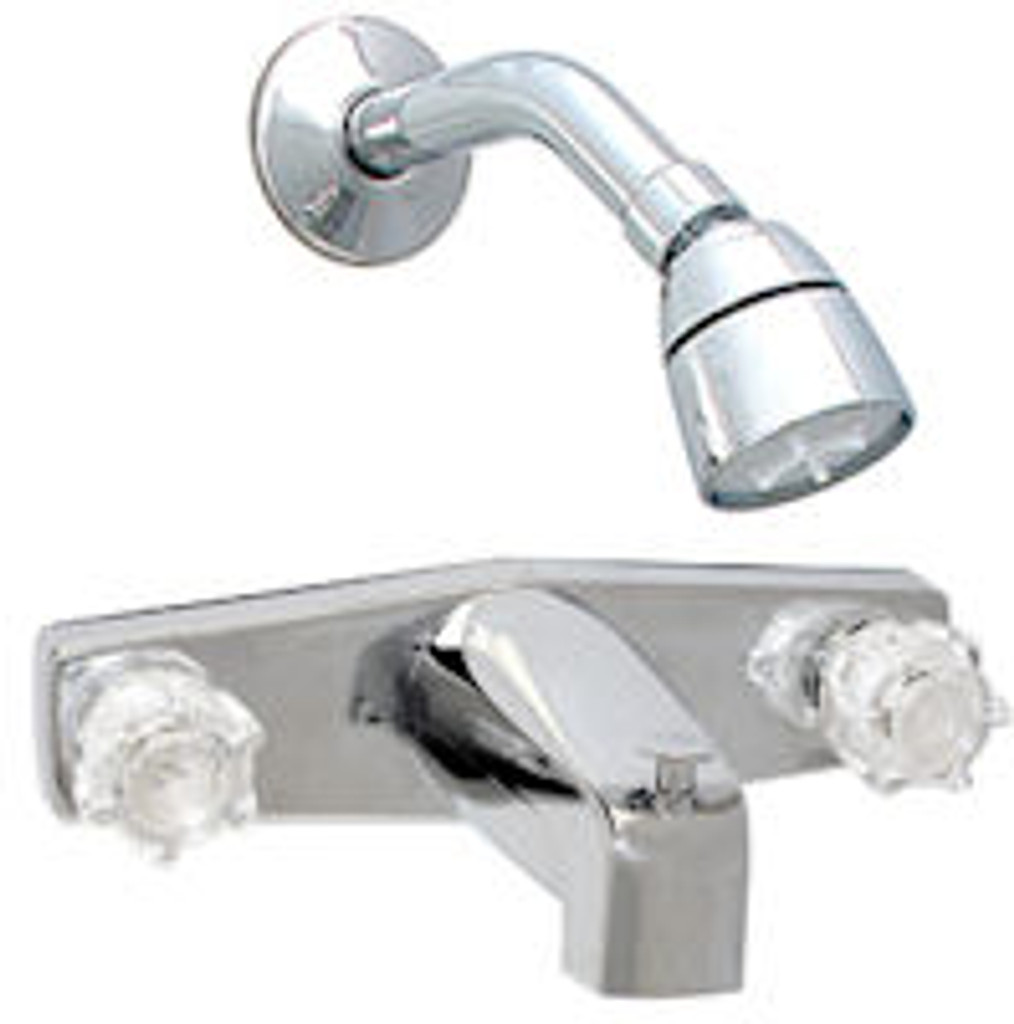 "8"" Chrome Tub & Shower Faucet with Brass Underbody"