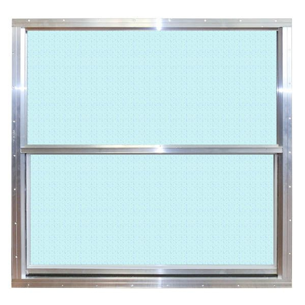 Pocahontas 14 x 27 Aluminum Vertical Obscure Glass Window