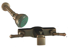 """Empire 8"""" Oil Rubbed Bronze Tub & Shower Faucet with Lever Handles"""