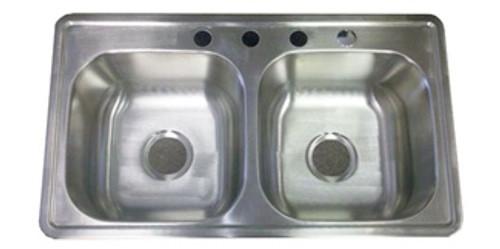 "33"" x 19"" x 8"" Deep Stainless Steel Sink"
