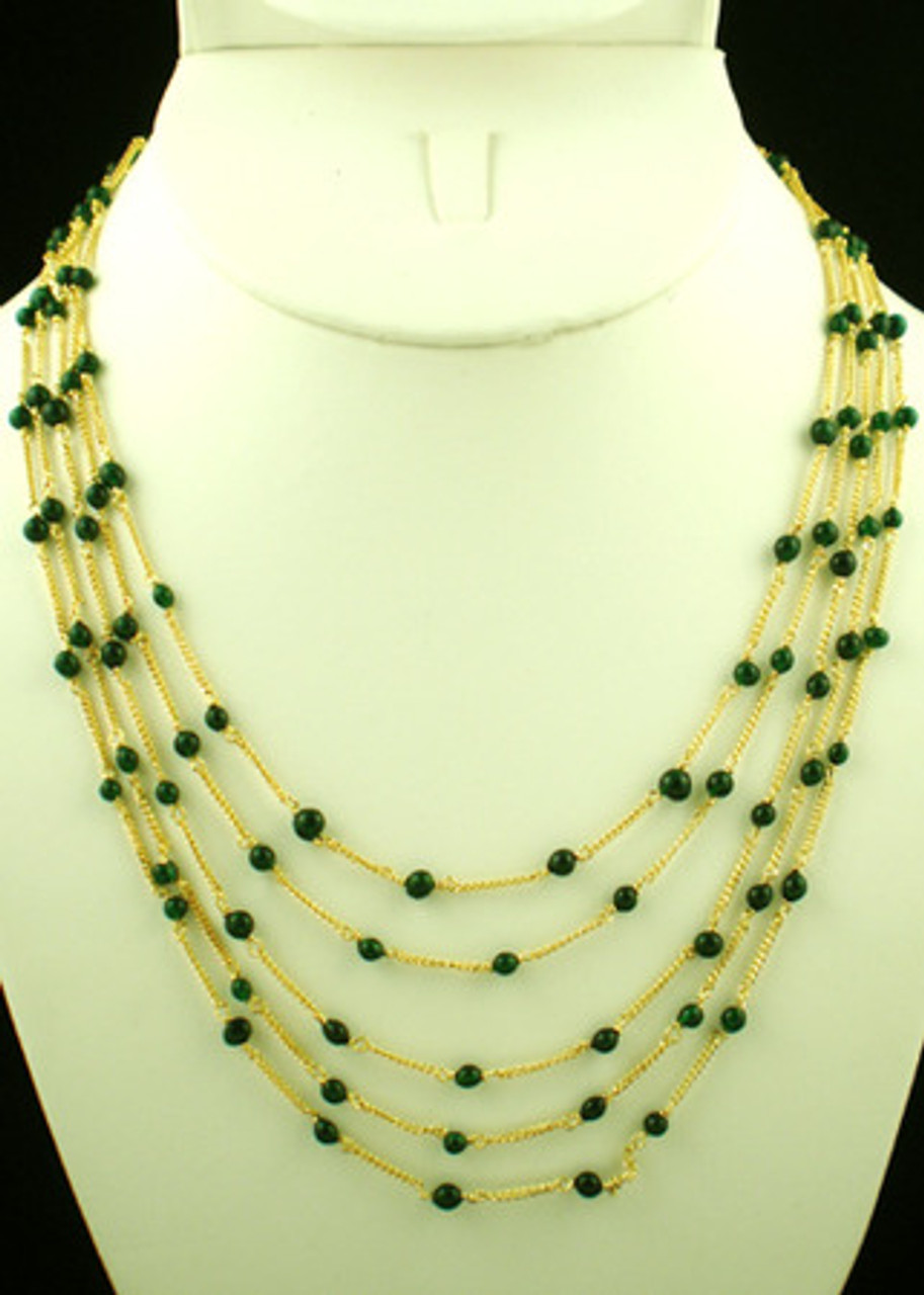 Indian Designer Fashion Jewelry With Green Beads