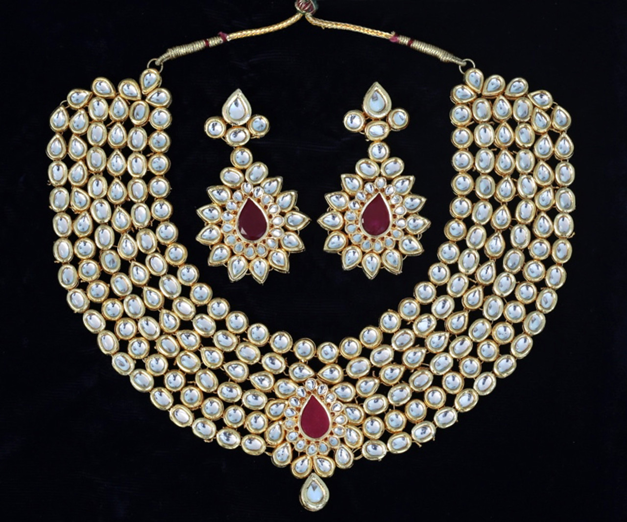 Ruby Large Bridal Bollywood Gold Plated Wedding Fashion Jewelry
