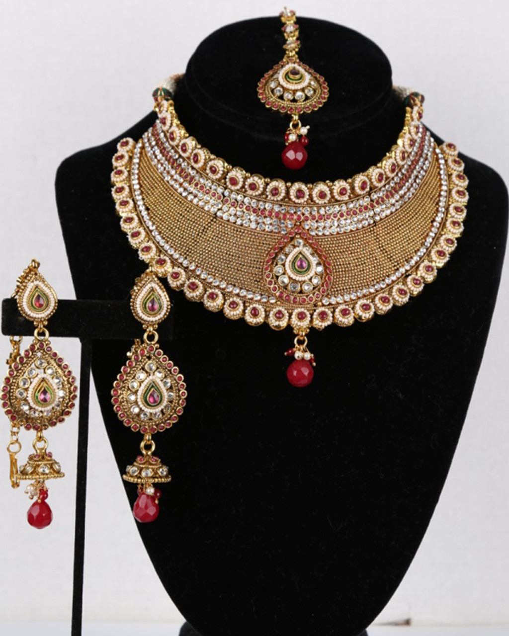 Indian Necklace Bridal Gold Plated Fashion Bollywood Wedding Style Women Jewelry