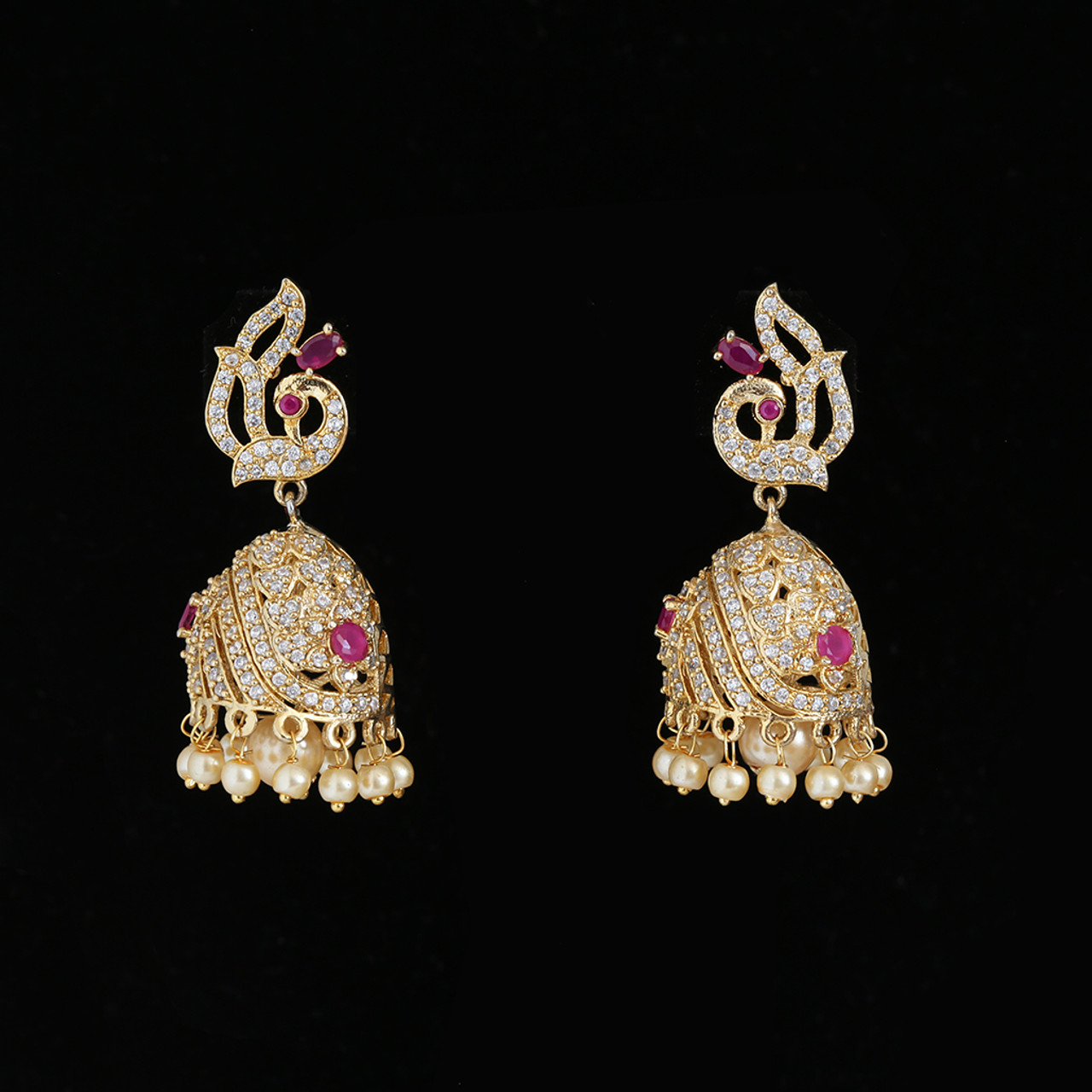 Indian Bollywood Silver Plated Dangle Earrings Traditional Trend Jewelry Design