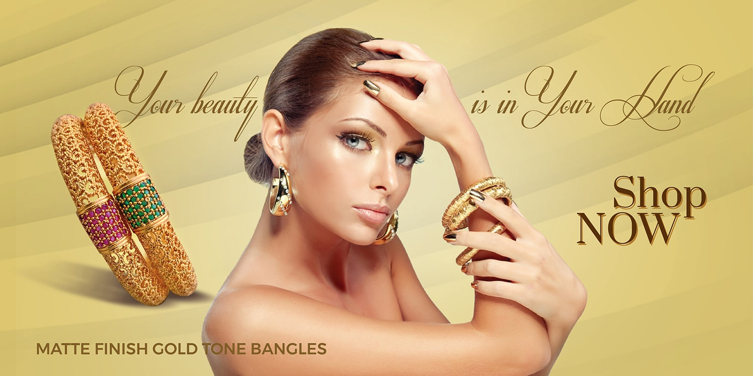 Matte Finish Gold Bangles