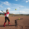 Ultimate Hitting Machine Softball Practice