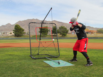 Bryce Harper with the SwingAway Pro XXL Hitting System