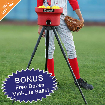 Heater Crusher Curve Mini Lite-Ball Pitching Machine