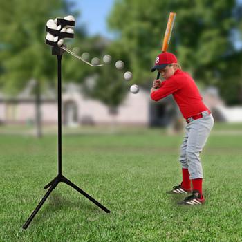 Big League Pro Soft Toss Machine In Use