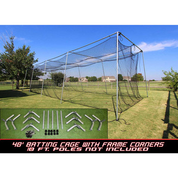 Cimarron #24 40x12x10 Batting Cage and Frame Corners