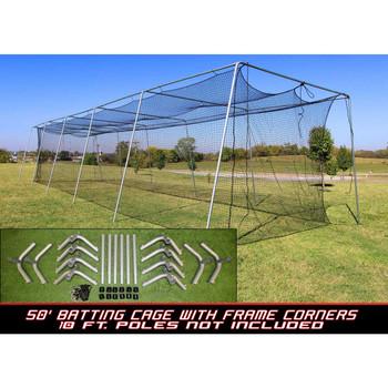 Cimarron #24 50x12x10 Batting Cage and Frame Corners