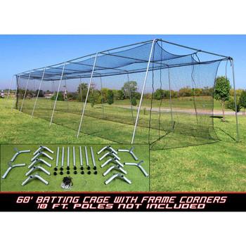 Cimarron #24 60x12x10 Batting Cage and Frame Corners