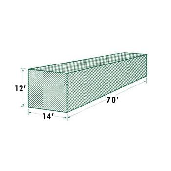 70x14x12 #36 Batting Cage Net - Muhl Braided