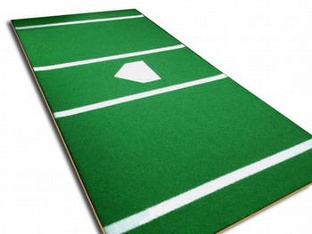 Artificial Turf Home Plate Mat 6x12 Economy Poly - Green