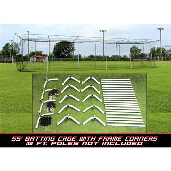 Cimarron 55x14x12 #24 Batting Cage and Frame Corners