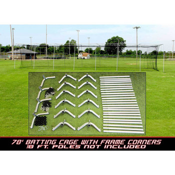 Batting Cage Net and Frame Corners