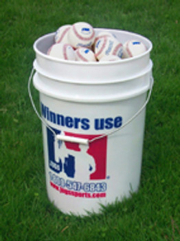 Bucket of JUGS Pearls Baseballs