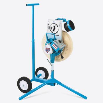 JUGS BP®1 Softball Only Pitching Machine on Optional Cart