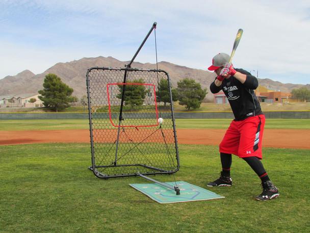 Bryce Harper with the SwingAway Pro XXL Hitting System