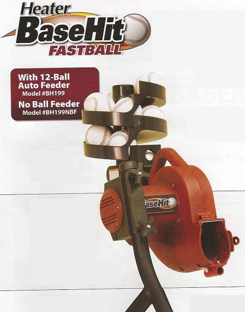 Heater BaseHit Fastball - Variable Speed Real Baseball Pitching Machine
