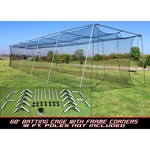Cimarron #24 60x12x10 Batting Cage and Frame Corners