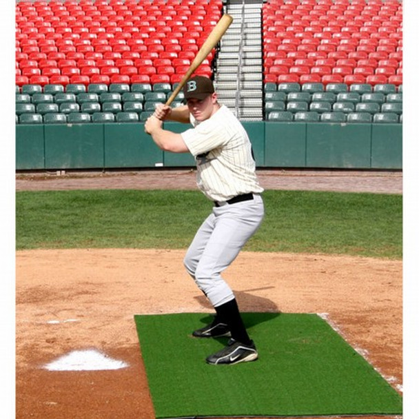 Batting Stance Artificial Turf Mat 4x7 Nylon