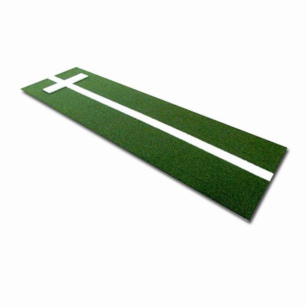 Softball Pitchers Mat with Power Line 3x10 - Green