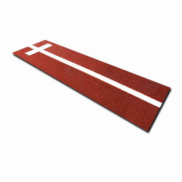 Softball Pitchers Mat with Power Line 3x11 - Terracotta