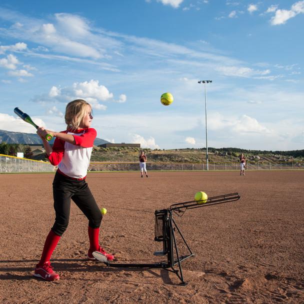 Ultimate Hitting Machine Softball Practice