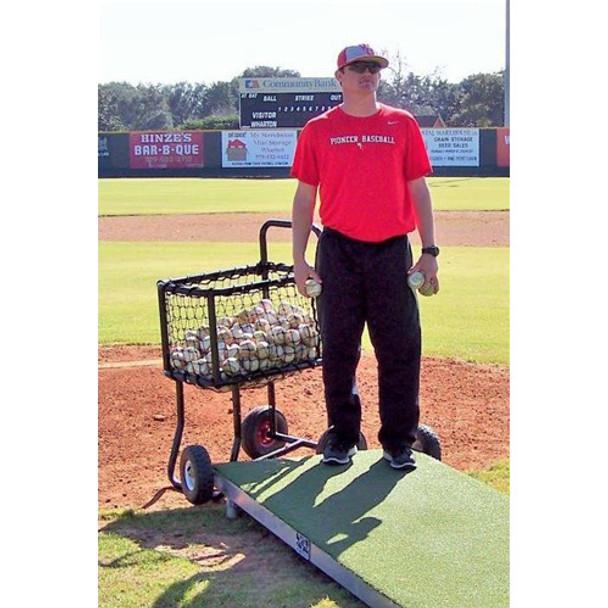 Pro Baseball Ball Cart With Pitcher