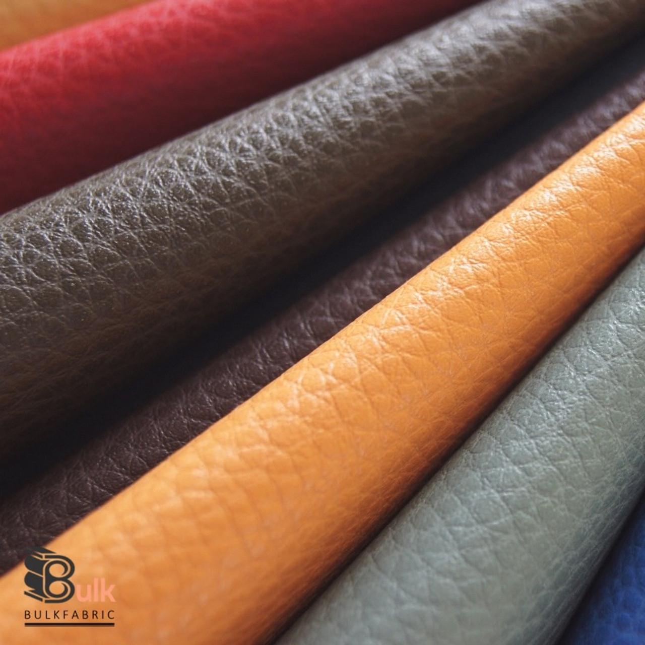 Wholesale 25 Yards Roll Pebbled Faux Leather Fabric Wholesale Upholstery Textured Pebble Leather Bulk
