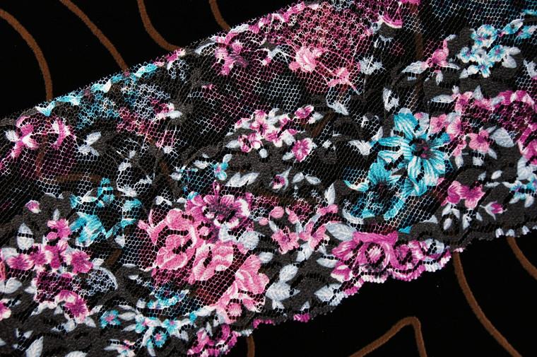 """4"""" Printed Floral Wholesale Lace Trim #lace-103"""