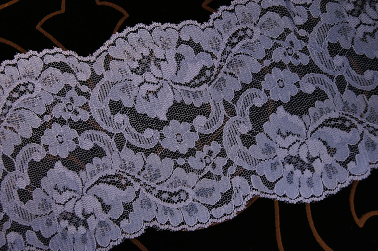 "5"" Blue Floral Wholesale Lace Trim #lace-521"