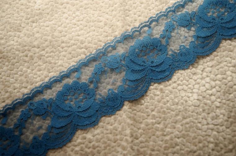 """2 1/2"""" Indigo Blue Lace Trim #1028"""