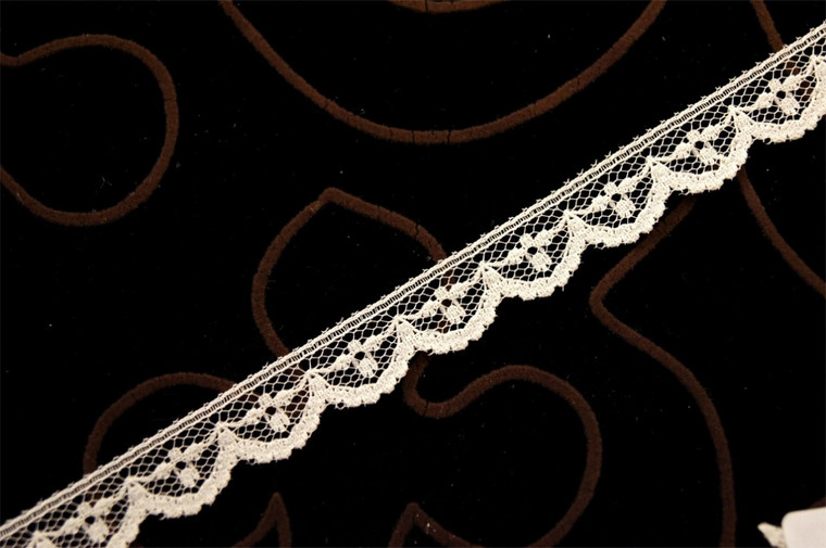 "1/2"" Off White Scalloped Lace Trim Wholesale"