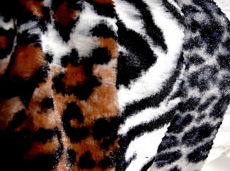 Safari Faux Fur Animal Print Minky Fabric Wholesale