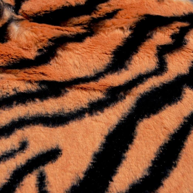 Tiger Animal Print Faux Fur Minky Fabric